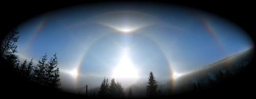 Ice halos in Austria