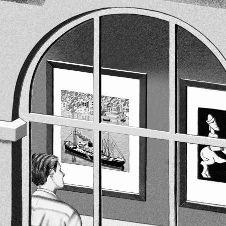 Escher's Print Gallery untwisted