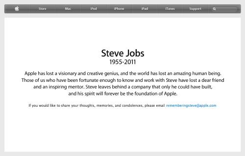 Steve Jobs - Apple's official tribute