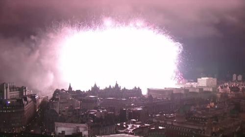 London's 2012 New Year fireworks (climax)